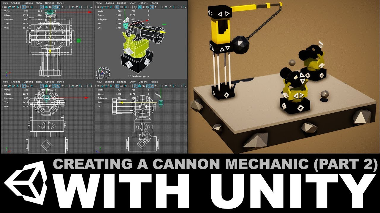 Creating a cannon mechanic with MayaLT and Unity3d - Part 2