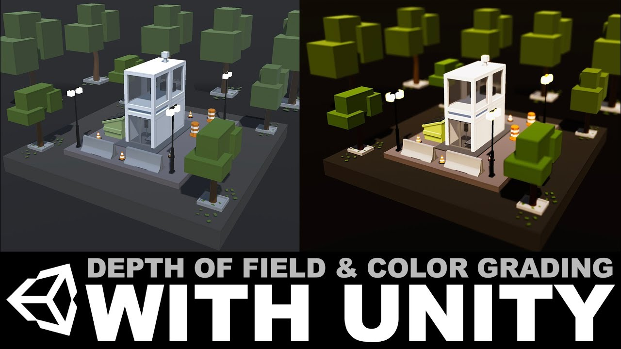 Unity3D post processing effects - Depth of Field and Color Grading