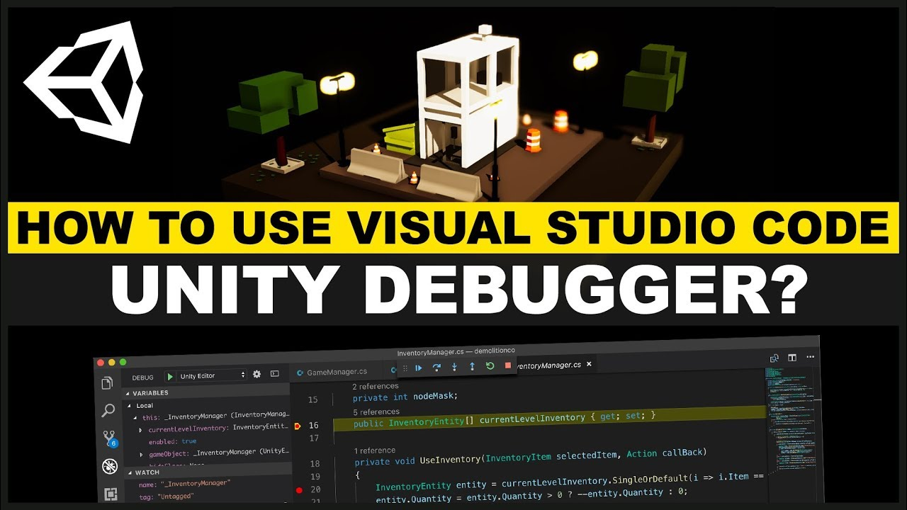 VSCode Unity Debugger - How to set breakpoints, watch expressions, and use the debug console?