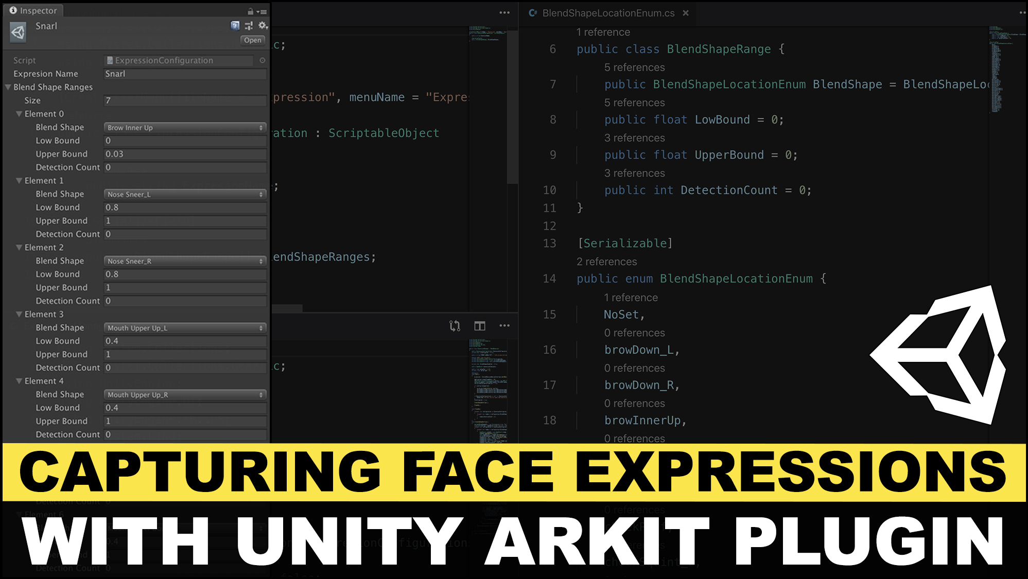 Unity3d ARKit Face Tracking with fully configurable face expressions with scriptable objects